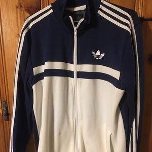 Original adidas 2009 blue/white track jacket sz m